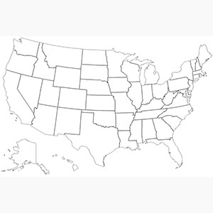 DXF Outlines of all USA States.